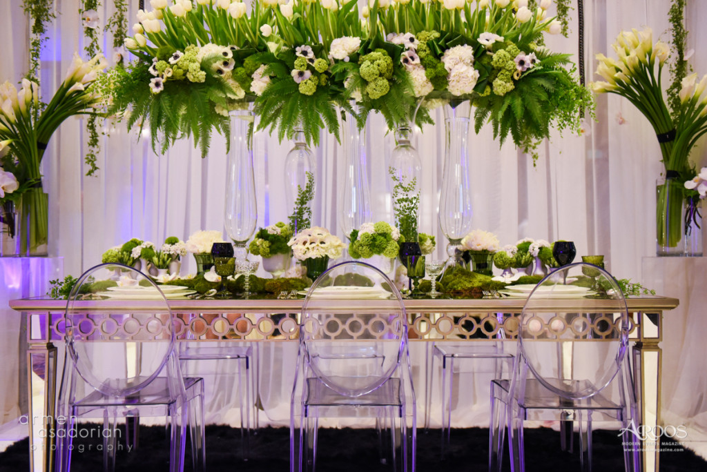 Victorian Ghost Chair and mirror table | Party Rentals Los Angeles