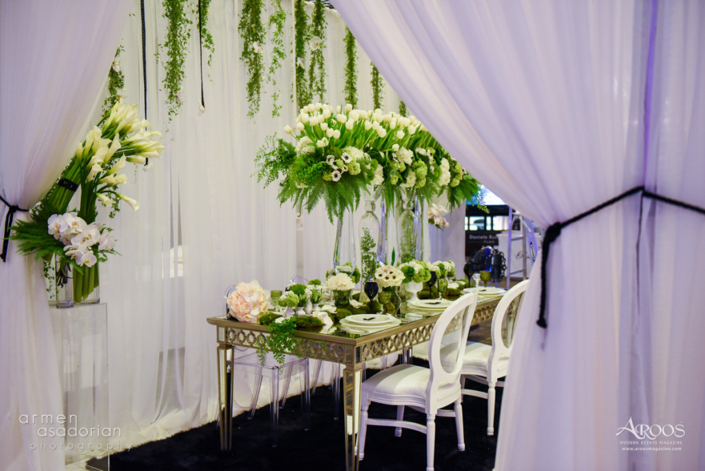 Louis XVI Chair and Chiffon Pipe & Drape | Party Rentals Los Angeles