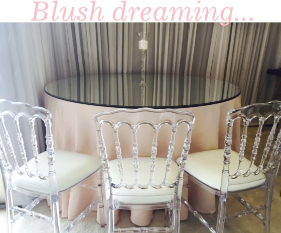 Mirror Tabletop & Clear Napoleon Chair | Party Rentals Los Angeles
