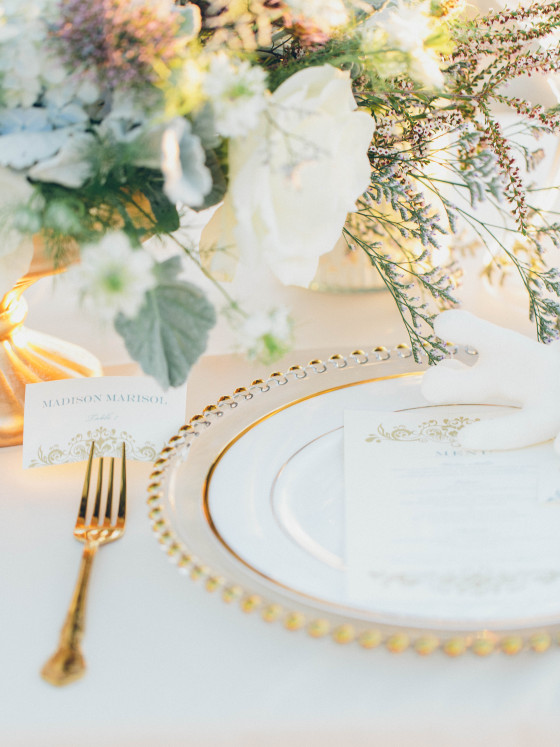 Gold Trim China Plates | Party Rentals Los Angeles