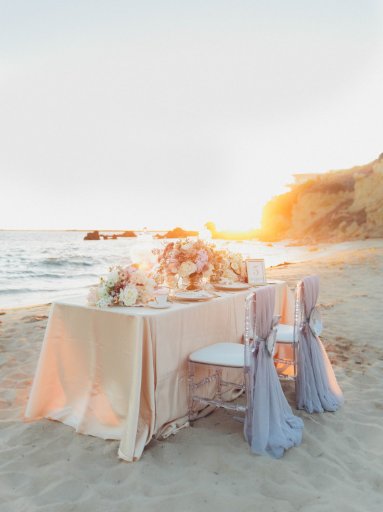 Blush Tablecloth Linens | Party Rentals Orange County