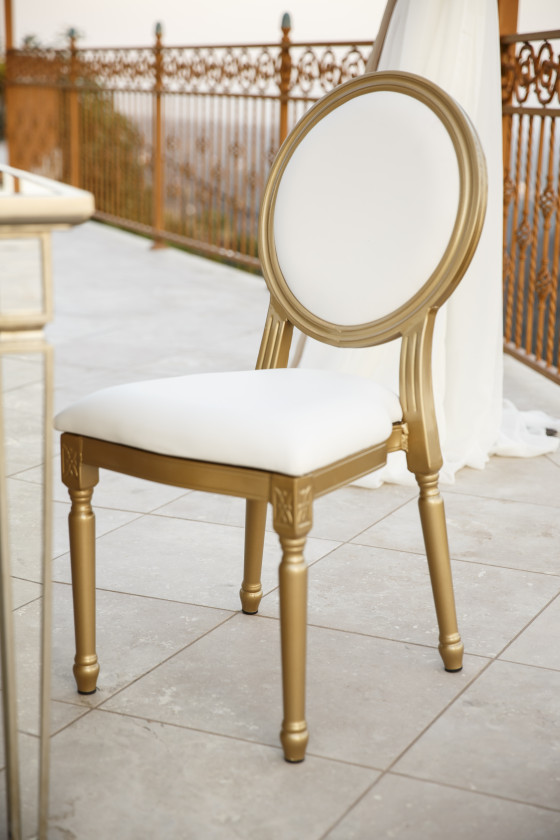 Gold Louis XVI Chair | Party Rentals Los Angeles