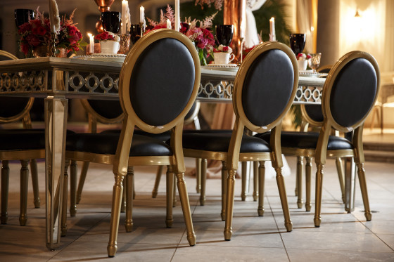 Black Louis XVI Chair | Furniture Rental Los Angeles