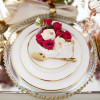 Gold Beaded Glass Charger Plate| Tabletop Rental Los Angeles