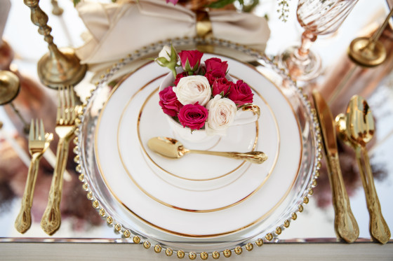 Gold Vintage Flatware | Tabletop Rental Los Angeles