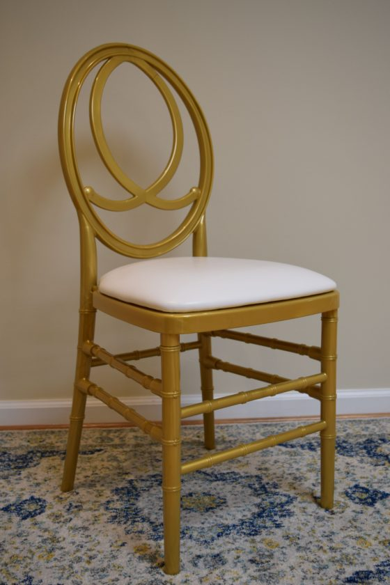 Gold Infinity Chair | Party Rentals Orange County