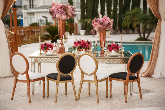 Black and White Louis XVI Chair | Party Rentals Los Angeles