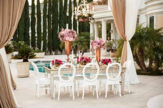 Mirrored Dining Table | Event Rentals Los Angeles & Orange County