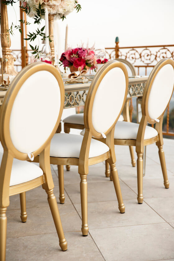 Gold Louis XVI Chair | Event Rentals Los Angeles