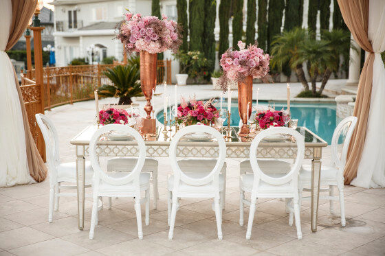 White Louis XVI Chair | Party Rentals Los Angeles